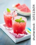watermelon drink | Shutterstock . vector #165113654