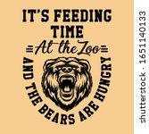 bear face t shirt print | Shutterstock .eps vector #1651140133