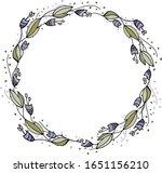 a wreath of unusual flowers.... | Shutterstock .eps vector #1651156210