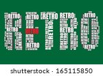 retro typography 3d text word... | Shutterstock .eps vector #165115850