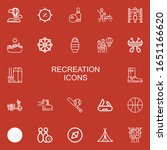 editable 22 recreation icons... | Shutterstock .eps vector #1651166620