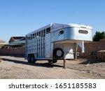 Large Horse Trailer Unloaded. ...