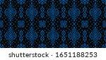 ikat geometric folklore... | Shutterstock .eps vector #1651188253