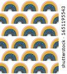 cute rainbows seamless pattern. ... | Shutterstock .eps vector #1651195543