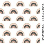 cute rainbows seamless pattern. ... | Shutterstock .eps vector #1651195546