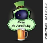 happy st. patricks day. bowling ... | Shutterstock .eps vector #1651198510