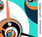 retro futuristic poster.... | Shutterstock .eps vector #1651199050
