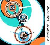 retro futuristic poster.... | Shutterstock .eps vector #1651199053