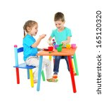 little children playing with... | Shutterstock . vector #165120320