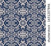 ikat geometric folklore... | Shutterstock .eps vector #1651207846