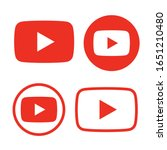 red and black play button icon...   Shutterstock .eps vector #1651210480