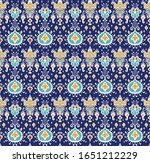ikat geometric folklore... | Shutterstock .eps vector #1651212229