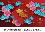 chinese new year 2021 year of... | Shutterstock .eps vector #1651217560