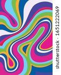 psychedelic color background... | Shutterstock .eps vector #1651222069