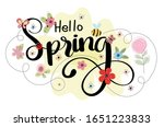 spring background with text... | Shutterstock .eps vector #1651223833