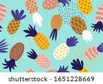 decorative pineapple seamless... | Shutterstock .eps vector #1651228669