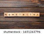 Newsletter Word Written On Wood ...