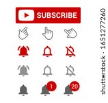 subscribe button  red and grey... | Shutterstock .eps vector #1651277260