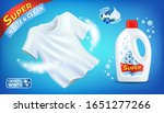 laundry detergent ad with clean ... | Shutterstock .eps vector #1651277266