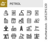 petrol simple icons set.... | Shutterstock .eps vector #1651291120