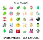 spa icon set. 30 flat spa icons.... | Shutterstock .eps vector #1651292083