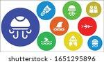 shark icon set. 9 filled shark... | Shutterstock .eps vector #1651295896