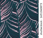 tropical leaf. modern motif....   Shutterstock .eps vector #1651360873