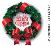 christmas wreath. eps 10 vector ... | Shutterstock .eps vector #165137594