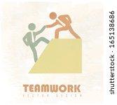 teamwork design over ... | Shutterstock .eps vector #165138686
