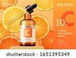 vitamin c serum ads on...   Shutterstock .eps vector #1651395349