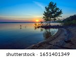 Lake Eufaula Sunset  Oklahoma ...