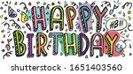 happy birthday funny vintage...   Shutterstock .eps vector #1651403560