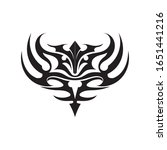 tribal ethnic tattoo icon... | Shutterstock .eps vector #1651441216