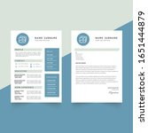 template curriculum vitae with...   Shutterstock .eps vector #1651444879