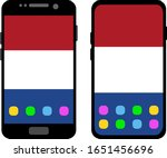 two black smartphones with a... | Shutterstock .eps vector #1651456696