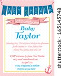 baby shower invitation template ... | Shutterstock .eps vector #165145748