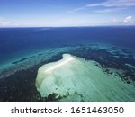 Aerial of Sandbar in Cebu Strait, between Bohol and Cebu.