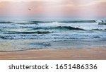 Seascape At Dawn On The Beach...