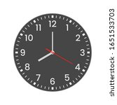 realistic clock face with...