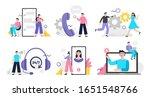 set of customer service...   Shutterstock .eps vector #1651548766