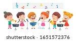funny little kids performing... | Shutterstock .eps vector #1651572376