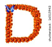 ecological figure  letter d ... | Shutterstock . vector #16515943