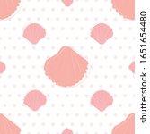 sea shells on sand seamless... | Shutterstock .eps vector #1651654480