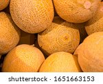 Cantaloupe Melons On Sale At...