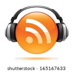 rss podcast icon | Shutterstock .eps vector #165167633