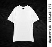 t shirt mock up mock up men... | Shutterstock . vector #1651684396