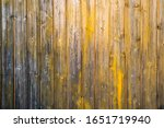 Yellow Painted Wooden Planks...