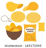 potato chips. vector... | Shutterstock .eps vector #165172343