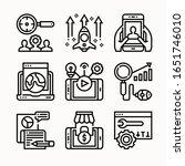 simple set digital marketing... | Shutterstock .eps vector #1651746010