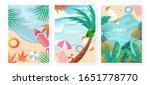 vector set summer background ... | Shutterstock .eps vector #1651778770